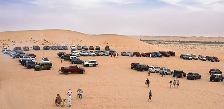 parking at phoenix desert camp in alkhatim
